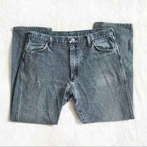 Wrangler vintage grey high rise straight leg jeans